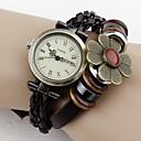 reloj de la vendimia mujeres de cuero de vaca Tomono (marrón)