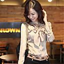 camisa de manga larga nuevo stand delgado cuello bowknot de soho mujeres