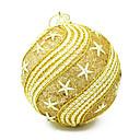 10cm adornos de navidad colorido patrón de bola de la estrella, de plástico