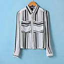 camisa de manga larga patrón de la impresión de las mujeres Sanli