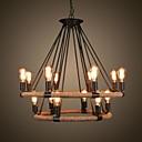 14 retro lámpara cuerda de cáñamo araña de estilo retro país