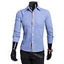 camisa de manga larga de color sólido de la moda Luoyi