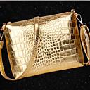 bolso de cocodrilo patrón causal de la moda europea venchy estableció 10007 de oro, plata, negro