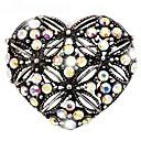 magos regalo de moda temperamento elegancia de diamantes de imitación broche del corazón del vintage