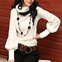 cuello alto estilo coreano color sólido de la camiseta de las mujeres sara
