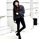 abrigo de piel elegante de la moda de invierno de las mujeres Baoli 3058