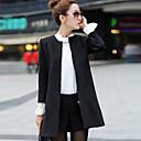 YDW Womens Fashion Woolen Long Slim Coat  SV007435 Black