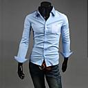 Camisa cabida moda guapos de Halei hombres