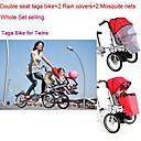 conjunto entero bicicleta Taga para los gemelos añadiendo  2mosquite neto  2  funda de lluvia ruituo ™ 3 ruedas 16inch bicicleta cochecito bebé 3