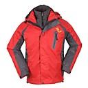 3-en-1 chaqueta de senderismo a prueba de viento térmico de los hombres