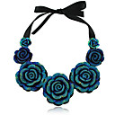 Yumfeel Womens Hand-Made Rose Shape Collar Chain Necklace: