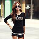 coreano de manga larga de tocar fondo camisa de la camiseta de las mujeres de tocar fondo Wanyi
