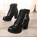 Chaw Womens Winter Fashion Shoelace Short Boots A68