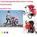 conjunto entero bicicleta Taga para los gemelos añadiendo  2  1 tapa de la lluvia lateral plegable bicicleta Taga 16inch bebé bolsa ruituo ™