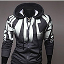 ZOMOT Men's Long Sleeve Slim Hoodie Causual Fashion Zipper Print Sweatshirts