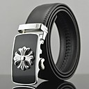 Mens Chrome Hearts Automatic Buckle Business Leather Belt