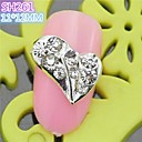 10PCS SH261 Special Heart Design Luxury Rhinestone 3D Alloy nail art DIY Nail beauty Nail Decoration Nail Salon