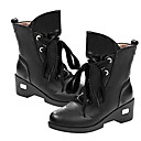 Chaw Womens Winter Fashion Shoelace Wedge Heel Short Boots 618-2