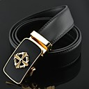 Mens Fashion Chrome Hearts Automatic Buckle Business Leather Belt