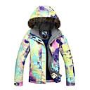chaqueta de esquí abajo Gsou nieve tinta al aire libre estilo de la pintura de la mujer a prueba de agua