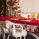 alces y patrón de copo de nieve rojo mantel navidad a prueba de agua, 138  220cm