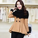 Zian Womens Plus Sizes Slim Solid Color Long Outerwear
