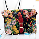 W-3 Womens WomenS Vintage Floral Pattern  With Rivets Shoulder Bag