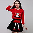 británico camisa del color del contraste de la moda de Eleanor mujeresamp;una falda de línea 325c-8019