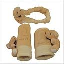 3 en 1 universales perilla juguete encantador oso de vista trasera del coche del espejo  freno de mano  engranaje de desplazamiento / cubiertas