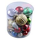 adornos de navidad serie bola colorido, plástico