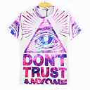 Blueberry Men's Fashion 3D Print Short Tshirt 2096
