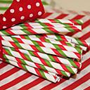 navidad papel raya pajas-conjunto de 25
