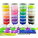 dodolu 24 colores plasticine arcilla colorido 3d con modos no tóxicos