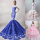 3 piezas de la muñeca de Barbie Princesa vestido elegante