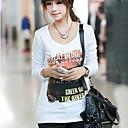 una camisa de estampado floral Belard cuello redondo coreano de la manera delgada de tocar fondo