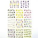 1  11pcs 3d de transferencia de agua pegatinas de uñas impresión Pegatinas de plumas para la decoración de uñas de arte de uñas (25  16  0,1 cm)