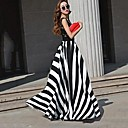 KissTiesWomens Stripe Maxi Dress