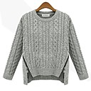 Womens Fashion Round Collar  Sweaters