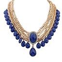agua joya exótica de la mujer Senlan cae collar azul