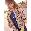 mujeres baibian todo partido de leopardo de pieles de abrigo térmica