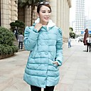 capucha de piel de doble botonadura invierno maternidad chaquetas para embarazadas outwear