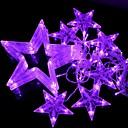 10w luz estroboscópica conducido-168 luz púrpura estrellas navidad luz estilo cadena decorativa (220v / 2-round-pin enchufe)