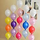 100 piezas de 10 pulgadas 2.3 gramos boda fiesta de celebración con aguja globo cola (colores al azar)