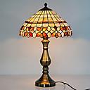 40W estilo simple lámpara de mesa con patrón de cuadros