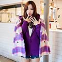 2014 nueva moda a cuadros abrigo de doble botonadura de Xinfu ™ mujeres
