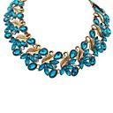 ambiente de lujo de las mujeres Senlan deja flores exageradas collar azul