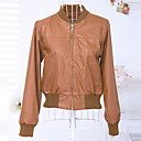 YDW Womens Fashion Stand Collar Simplicity Short Coat 7385
