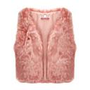 abrigo de piel elegante de la moda de invierno de las mujeres Baoli 9116