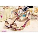 causual moda cómoda cuña de la plataforma de impresión sandalias de tacón peep-toe de las mujeres winble