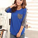 una camisa nueva Belard causal coreano suelta de manga larga de cuello redondo manga murciélago de tocar fondo